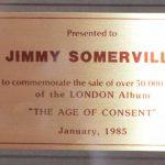 CRIA Sales Award Bronski Beat The Age Of Concent